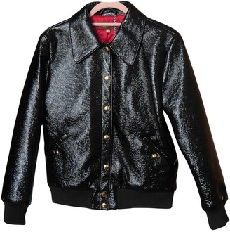 ALEXACHUNG Alexa Chung Black Leather Jacket for Women