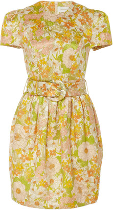 Zimmermann Belted Floral-Print Cotton And Silk-Blend Dress