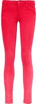 Mother The Looker Ombré Cotton-Blend Corduroy Skinny Pants