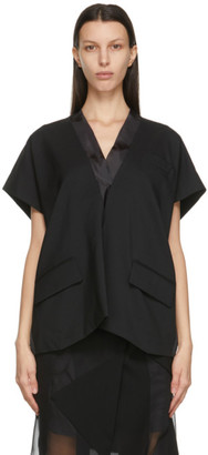 Sacai Black Suiting V-Neck Pullover