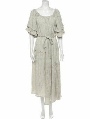 Apiece Apart Striped Long Dress w/ Tags Grey