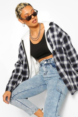 boohoo Extreme Oversized Flannel Shirt