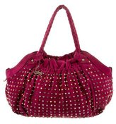 Christian Louboutin Studded Suede Shoulder Bag