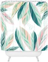Deny Designs Zoe Wodarz Painterly Palm Shower Curtain