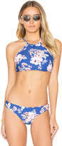 Seafolly Vintage Wildflower Reversible High Neck Top in Blue. - size Aus 12/US 8 (also in Aus 8/US 4)