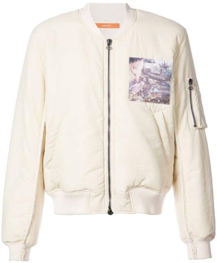 Komakino graphic print bomber jacket