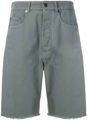 No.21 Wide-Leg Denim Bermuda Shorts