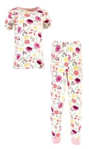 Touched by Nature Big Girls and Boys Botanical Tight-Fit Pajama Set, Pack of 2