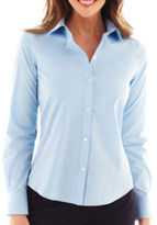 Liz Claiborne Long-Sleeve Button-Front Shirt - Tall