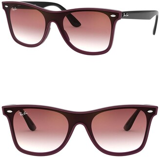 Ray-Ban Blaze 141mm Wayfarer Shield Sunglasses