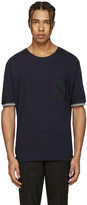 Lanvin Navy Pocket Stripe T-Shirt