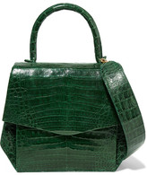Nancy Gonzalez Small Glossed-crocodile Tote - Forest green