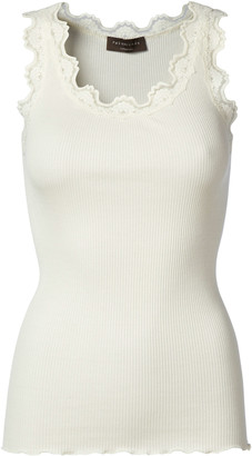 Rosemunde Ivory Classic Silk Top with Vintage Lace (Babette 5405) - XS