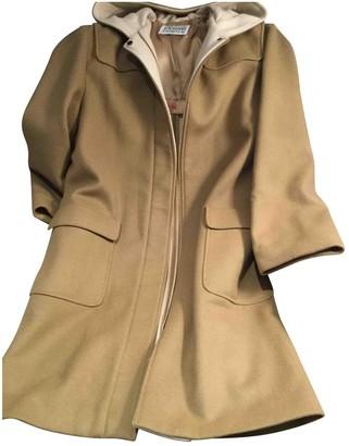 Gianfranco Ferre Camel Wool Coat for Women