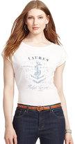 Lauren Ralph Lauren Anchor-Print Graphic T-Shirt