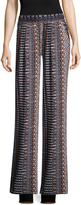 BCBGeneration Women's Printed Wide Cuffs Pants