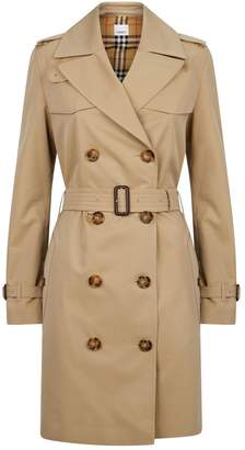 Burberry Gabardine Belted Trench Coat