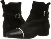Just Cavalli Laminated Crackle Low Heel Ankle Bootie Women's Boots