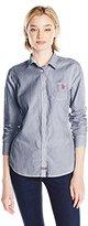 U.S. Polo Assn. Junior's Vertical Stripe Poplin Long Sleeve Shirt