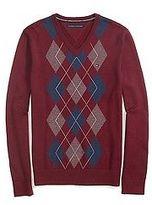 Tommy Hilfiger Men's Argyle V-Neck Sweater