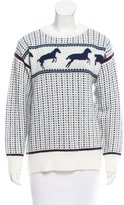 Band Of Outsiders Horse-Patterned Wool Sweater w/ Tags