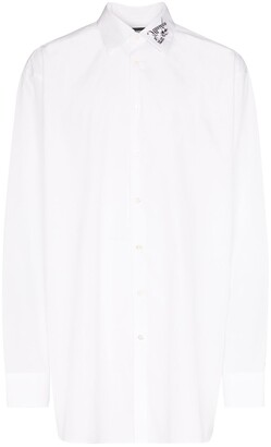 Raf Simons Embroidered Collar Oversize Fit Shirt