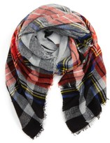 BP Women's David & Young Contrast Plaid Square Scarf