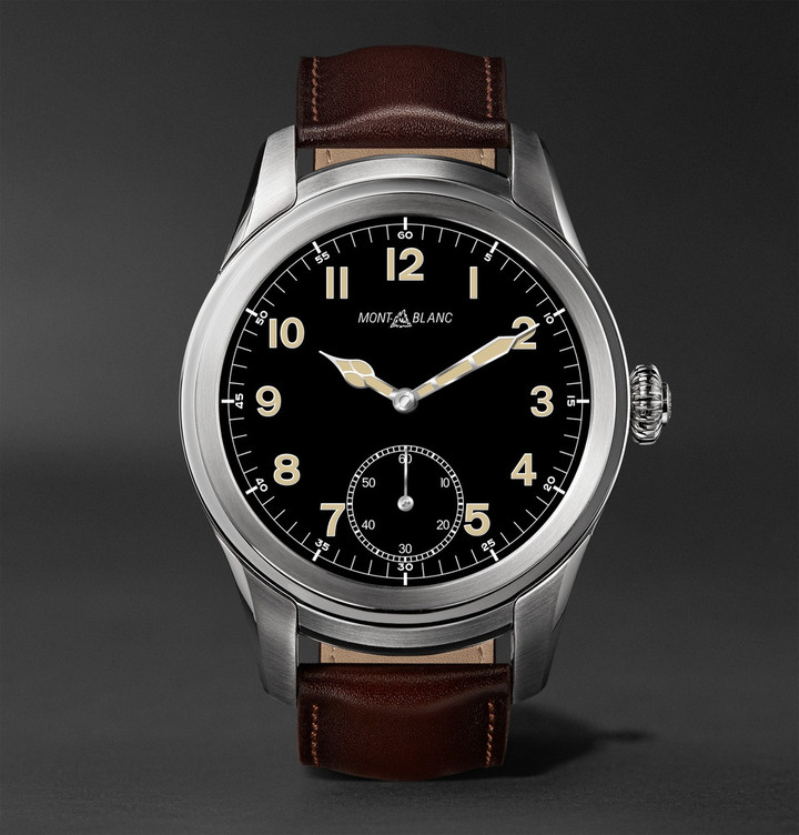 Montblanc Summit 46mm Titanium and Leather Smartwatch