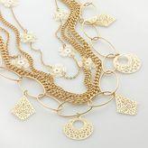 Apt. 9® Gold-Tone Filigree-Charm Multistrand Necklace