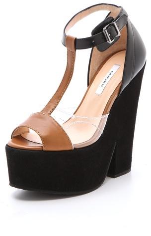 Carven T Strap Platform Sandals