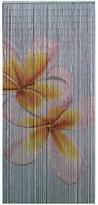 Double Frangipani Bamboo Single Panel Curtain