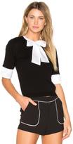Alice + Olivia Ciel Tie Neck Sweater