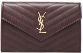 Saint Laurent Quilted Monogram Chain Wallet
