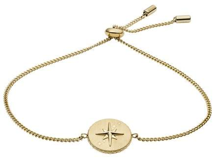 Fossil North Star Pendant Gold-Tone Stainless Steel Bracelet jewelry