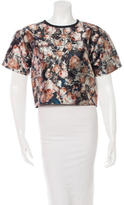 Sachin + Babi Rose Print Cropped Top w/ Tags