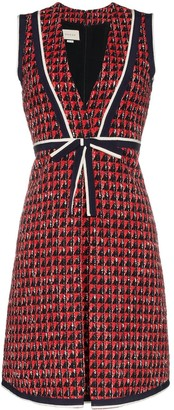 Gucci Geometric Tweed Dress