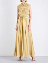 Burberry Aelia silk-georgette maxi dress