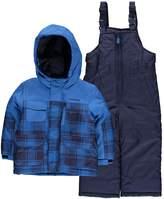 London Fog Little Boys' Plaid Snowsuit