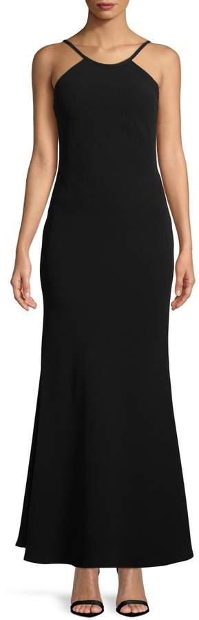 Calvin Klein Open Back Sleeveless Gown