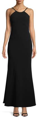 Calvin Klein Open Back Sleeveless Gown