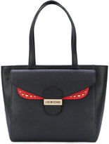 Love Moschino flap tote bag - women - Leather - One Size