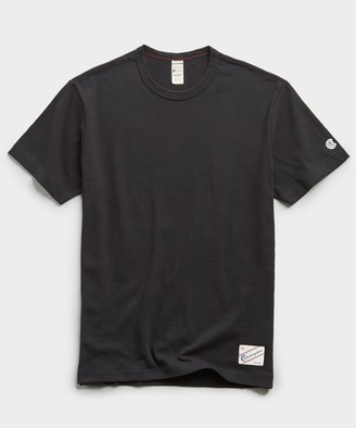 Todd Snyder + Champion Heavy Weight Short Sleeve Jock Tag Tee in Black