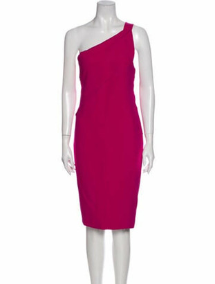 Roland Mouret One-Shoulder Knee-Length Dress Pink