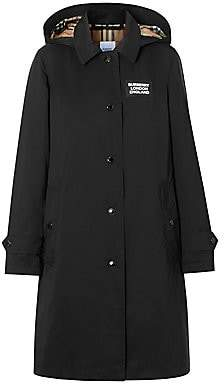 Burberry Women's Oxclose Logo Patch Trench Coat