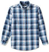Roundtree & Yorke Casuals Long-Sleeve Large Plaid Sportshirt