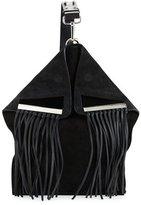 CNC Costume National Suede Crossbody Bag W/Fringe, Black