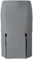 Alexander Wang houndstooth pencil skirt - women - Nylon/Spandex/Elastane/Viscose - L