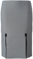Alexander Wang houndstooth pencil skirt - women - Nylon/Spandex/Elastane/Viscose - M
