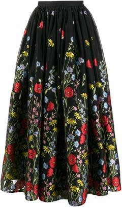 Erdem Lindie floral skirt