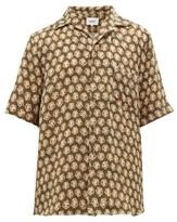 Nanushka Ville Batik-print Cupro Shirt - Mens - Khaki Multi
